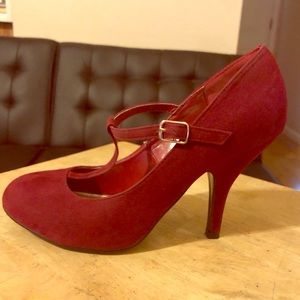 Women Suede Pumps by Brinkley Co. with T-Straps